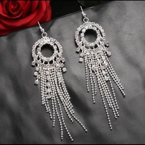 BRAND NEW CRYSTAL CHANDELIER HOOK EARRINGS